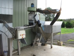 Feeding hopper and Belt Elevator in used condition