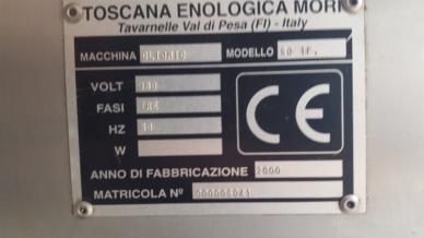 Oliomio Serial number plate